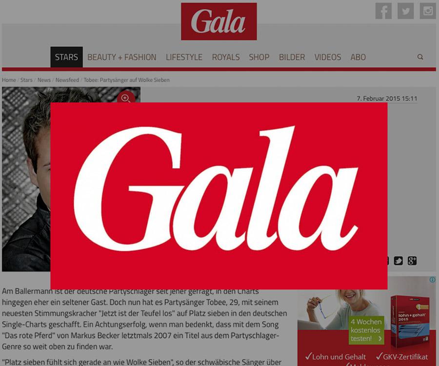 Gala Partysänger auf Wolke Sieben